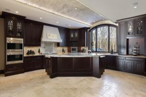 large-kitchen-dark-wood-granite-island-custom-home